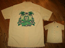 Notre Dame Rugby Spring Break Tour 2013 button-down Shirt Men's Medium Irish