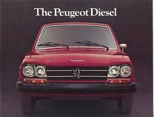 1977 Peugeot Diesel Sales Brochure