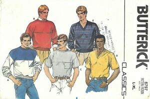 Butterick 6797 Men's Loose-Fitting Pullover Top, Contrast Yoke Sz 42-48 COMPLETE