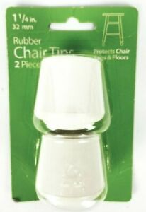 Waxman Rubber Chair Tips 2 Piece 1 1/4 In. 32 mm 4441815W New Sealed