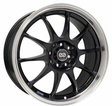 16x7 Enkei J10 5X100/114.3 +38 Black Rims Fits Civic Rsx Eclipse Prelude