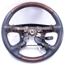 01 02 Mitsubishi Montero Limited Woodgrain Steering Wheel OEM Black Leather