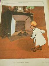 Zut j'ai oublié de la lever la trappe de la cheminée Dessin Poulbot Print 1903