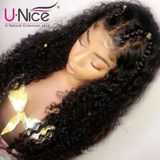 16 inch 8A Indian Curly Virgin Human Hair Lace Front Wig Glueless Lace Wig UNice