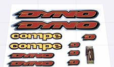 Dyno Compe 1995  Decal Set Chrome Backed Stickers old school BMX Restoration