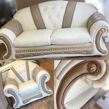 Venus Versace 3+1 Seater in Cream with Crystals