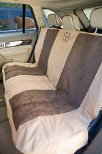 Petego EB Velvet Multi Fabric Rear Seat Cover Protector Tan and Espresso