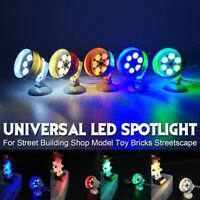 Universal DIY LED Spot Light Lamp For Lego Street Building Shop Model Toy  ≈