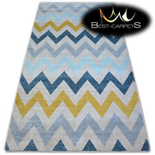 """AMAZING THICK MODERN SOFT RUGS """"NORDIC"""" beige zigzag floor carpet small large"""