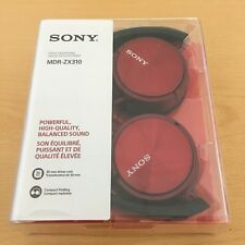 SONY MDR-ZX310 CUFFIE ROSSO NUOVE - RED HEADPHONES NEW IN BOX