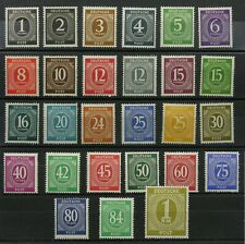 GERMANY, Scott #530-556 (27), Post-War Definitives, Complete Set, Mint, Hinged.