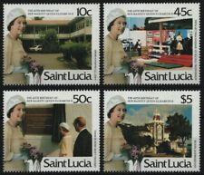 St. Lucia 1986 - Mi-Nr. 839-842 ** - MNH - Queen Elisabeth II