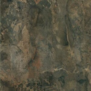 Vinyl Floor Tile Dark Slate Marble Peel and Stick Home Flooring 20 Pack 12x12