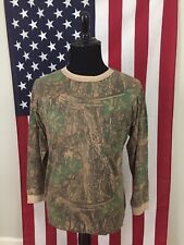 vtg RealTree Camo Soft & Thin T-Shirt men's LARGE camouflage long sleeve 1a552