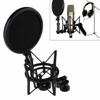 New Professional Microphone Mic Shock Mount Holder with Pop Shield Filter Screen
