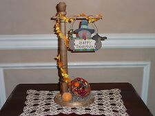 Thanksgiving Signpost Accessory For Byers Choice ~ Great w/carolers