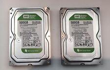 """2 X Western Digital Caviar Green 500GB,Internal,7200 RPM, 3.5"""" (WD5000AADS)"""