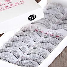217# 10 Paar handgemachte Lange dicke weiche falsche falschen Wimpern Makeup Set