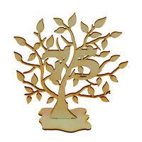 Jubiläums Baum 75 Geburtstag, aus Holz 16 cm Lebensbaum Geschenk