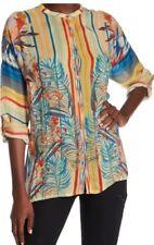 NWT Johnny Was Mardi Oversized Tunic Blouse Cupra Rayon Silk Size S $240
