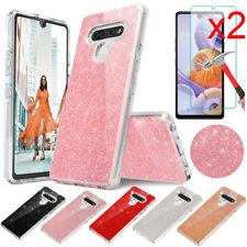 For LG K51 / LG Reflect Case Hybrid Glitter Bling Phone Cover / Screen Protector