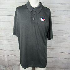Toronto Blue Jays Large Polo Shirt Mens Gray By Majestic Mlb Baseball Golf
