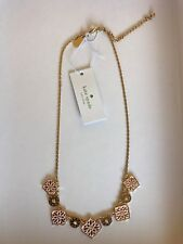 Nwt Kate Spade Moroccan Tile Pink White Necklace