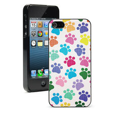 For iPhone X SE 5 5S 5c 6 6s 7 8 Plus Hard Case 54 Colorful Paw Prints