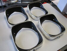 1969 69 CHEVELLE EL CAMINO NEW COMPLETE SET OF ALUMINUM HEADLIGHT BEZELS