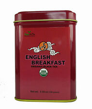Organic English Breakfast organic black tea loose leaf tea  3.50 OZ in tea tin