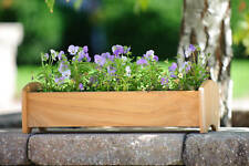 Teak wood planter flower herb tree window box garden, 19x6x5 (OD)
