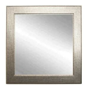"BrandtWorks Subway Silver Square Wall Mirror, 32"" x 32"" - BM014SQ"
