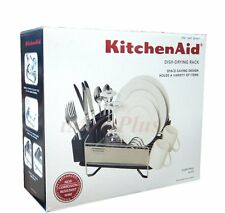 kitchen aid kitchenaid 3 pc dish cup holder plate drying drainer rack set black