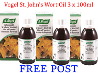 3 x 100ml VOGEL A.Vogel St. John's Wort Hypericum Oil 300ml BULK DEAL  FREE POST