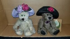 Lot 2 Boyds Bears Twila Camille Archive Collection Hats Flowers Retired w/ tags