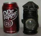 "Antique early tin Bullseye lens oil lantern candle lamp 5"" primitive civil war ?"