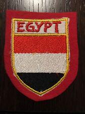 Patch toppa CM8X6 scudetto in stoffa ricamato EGYPT EGITTO