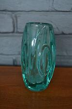 Lens Bullet Retro Vase 966 Rosice Glassworks Rudolf Schrotter Emerald Green