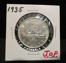 Rare Type II 1935 Canada Silver Dollar - Counterstamped J.O.P.       ENN COINS