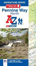 Pennine Way (North) Adventure Atlas by A-Z Maps (Paperback , OS 25000 Mapping)