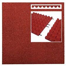 Fallschutzmatten ROT + Verbinder Fallschutzplatte Gummimatte Fallschutzmatte NEU