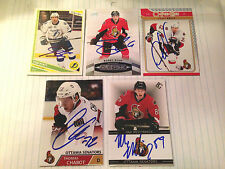 Thomas Chabot SIGNED Custom Photo Card OTTAWA SENATORS #2