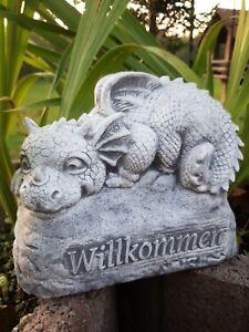 Gartendrache Willkommen , Drachen Drachenfiguren F0005