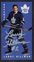 Larry Hillman #118 signed autograph auto 1994 Parkhurst Tall Boy Hockey Card