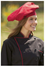 Togue Chef Hats, Cotton Twill 7.5 oz, Red - 150