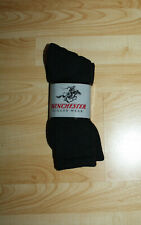 Mens Winchester Rugged Wear Boot Socks  3 pr  Black Size 10-13   NEW Pack