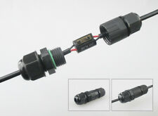 5 x 2 core Waterproof Connector IP68 Straight 2 pin Joint for ⌀3-5.3mm cable