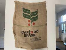 COFFEE BRAZIL LARGE HESSIAN COFFEE SACK LARGE COFFEE BEAN JUTE BAG BURLAP SACK