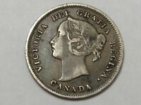 Better-Grade 1899 Silver Canadian 5 Cent Coin. Queen Victoria.  #45