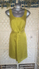M&S LIMITED COLLECTION LIME TWIST FRONT LOW BACK DRESS SZ 12
